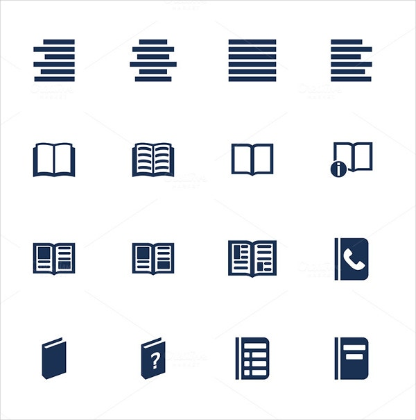 Flat Style Book Icon