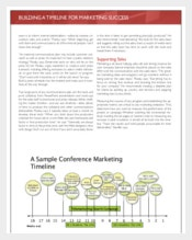 Example Conference Marketing Timeline Template