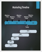 Sample Marketing Timeline Template Free Powerpoint Download