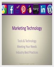 Example Marketing Technology Presentation Template