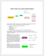 Example Content Marketing Dashboard Template