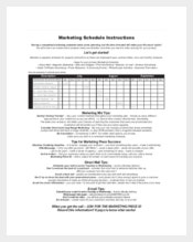 Example Marketing Schedule Form Template