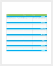 Example Marketing Schedule Template