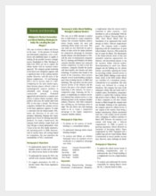 Example Marketing Case Studies Catalogues Template