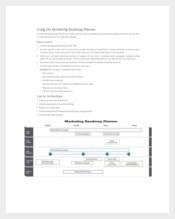 Marketing Roadmap Planner Sample Template