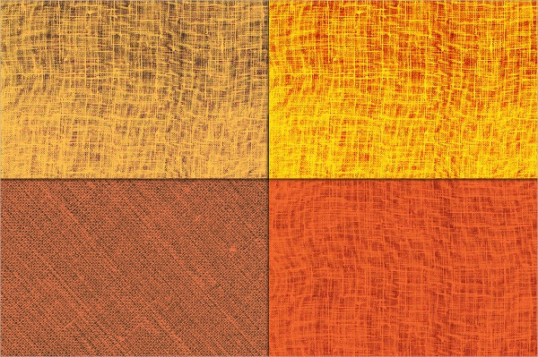 Orange Linen Canvas Texture