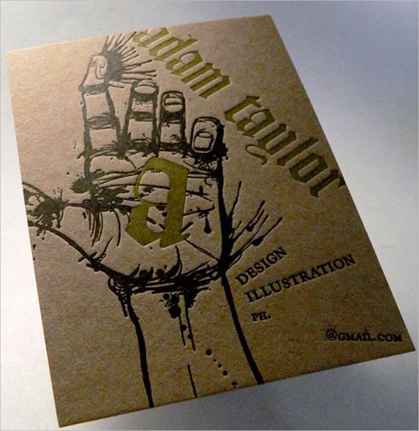 adam taylor business card design