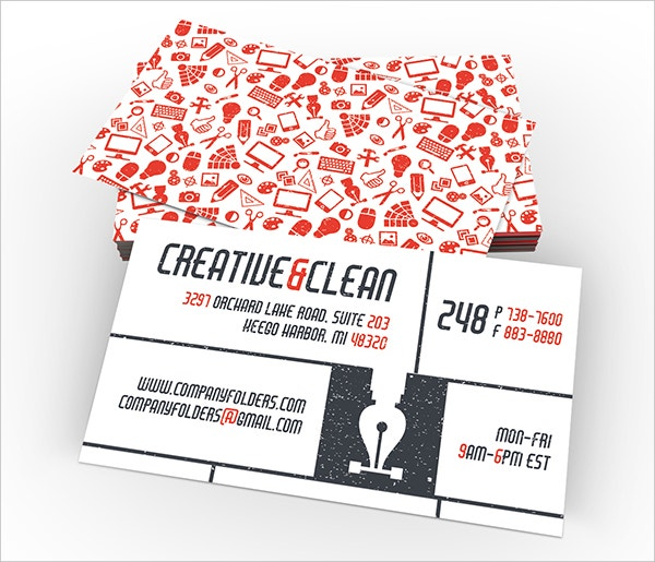 creative clean folder and business card design