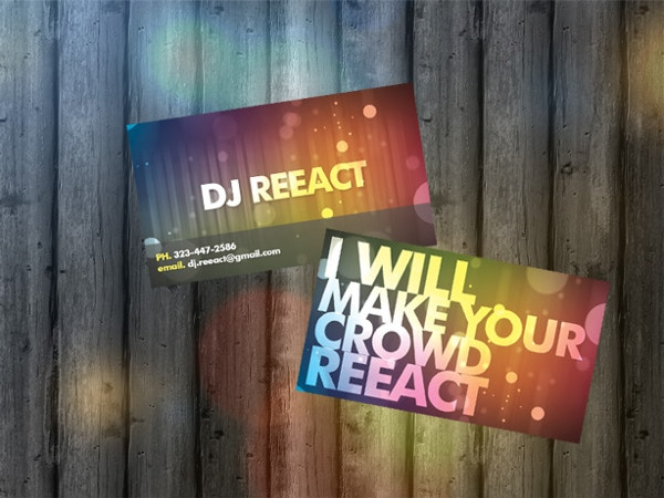 DJ Business Cards Design