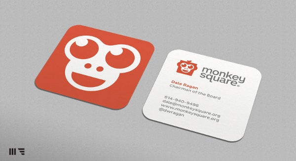 Monkey Square Business Card Design