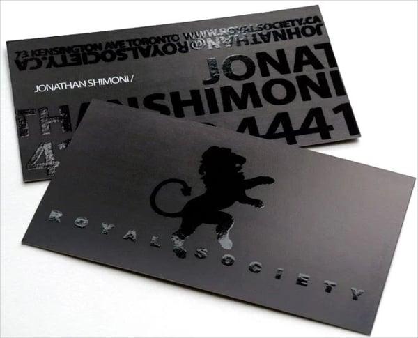 royal society business card