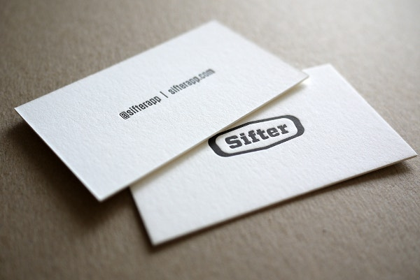 Sifter Letterpress Business Card Design