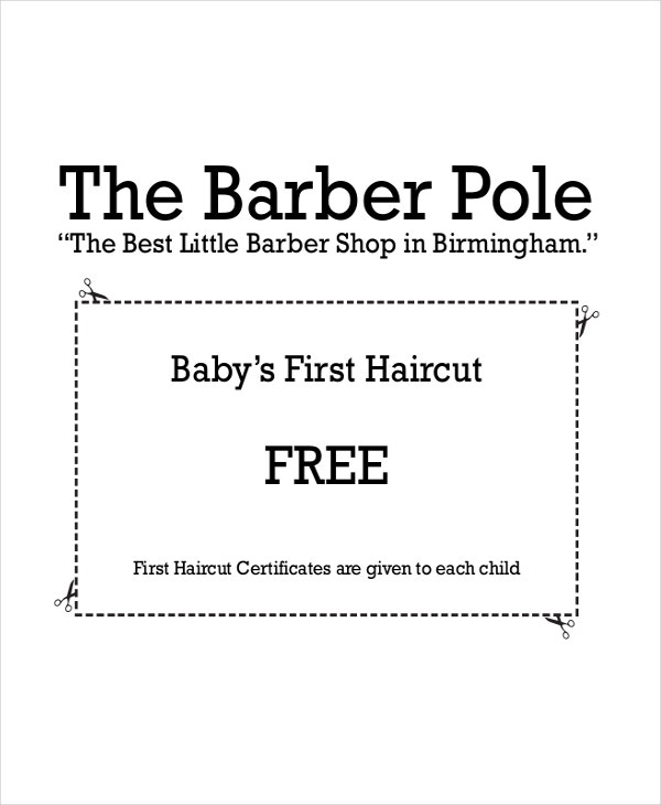 Haircut Certificate Template - 5+ Free PDF Documents Download | Free ...