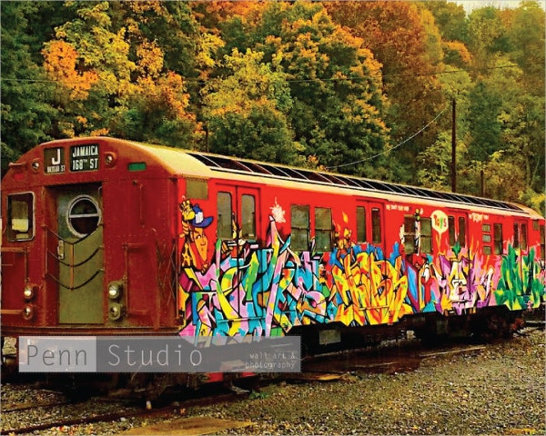 Train Wall Graffiti Art
