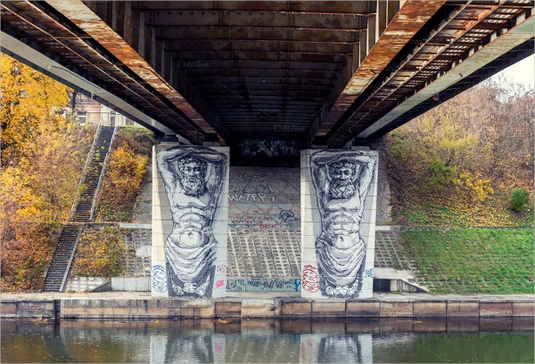 Graffiti Art under a bridge