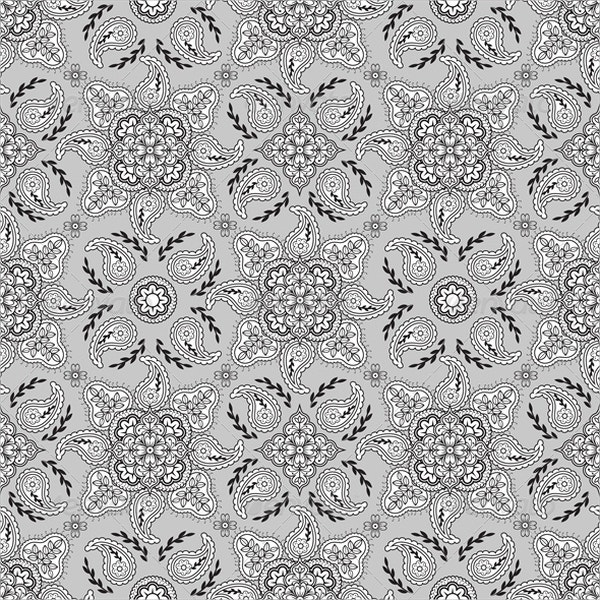 Gray Paisley Pattern