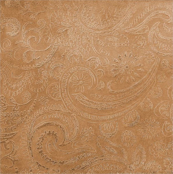 Etched Copper Paisley Pattern