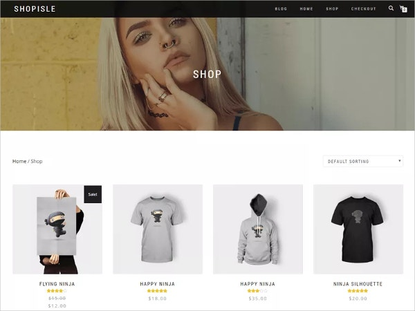 free design ecommerce website theme