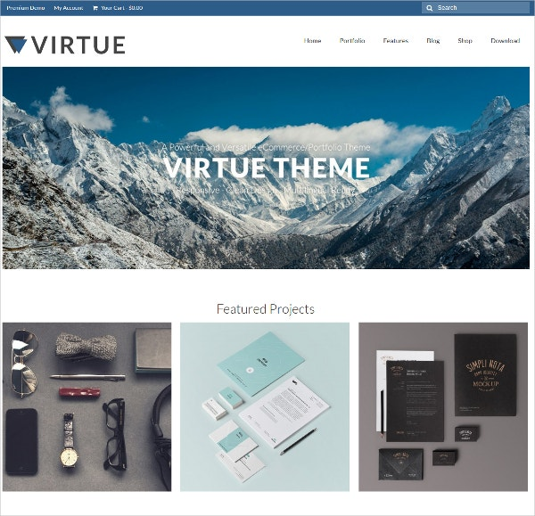 modern free wp website theme