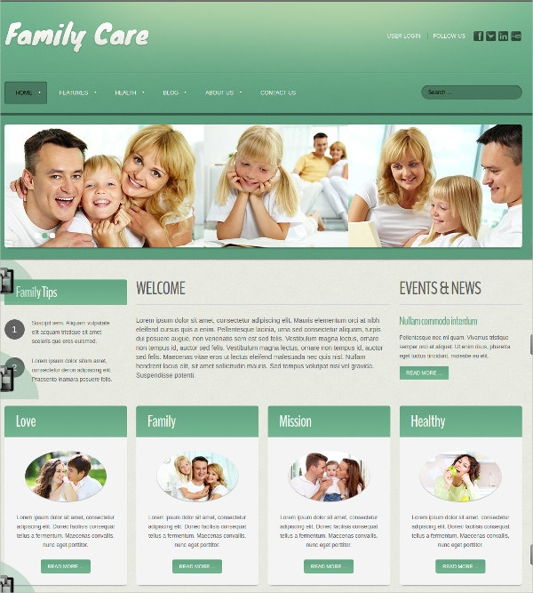 free health family care joomla website theme