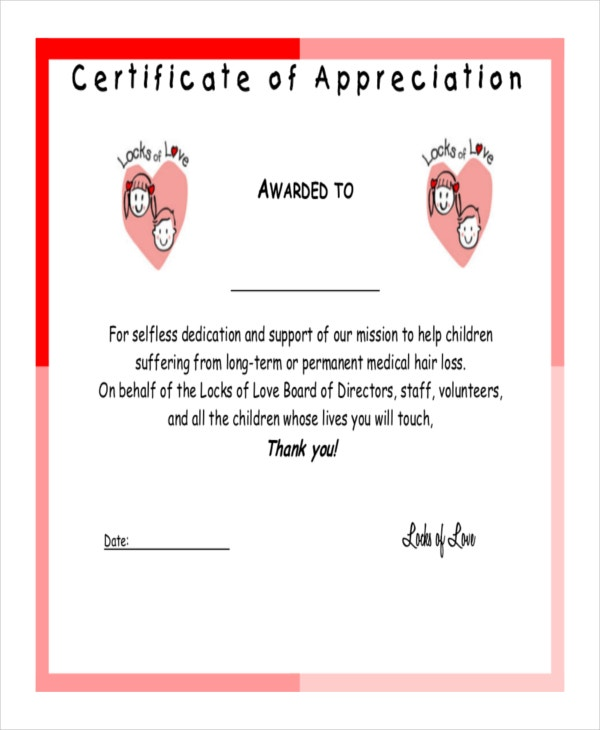 Amazing Certificate Of Appreciation Template  Certificates Of Appreciation Wording Samples