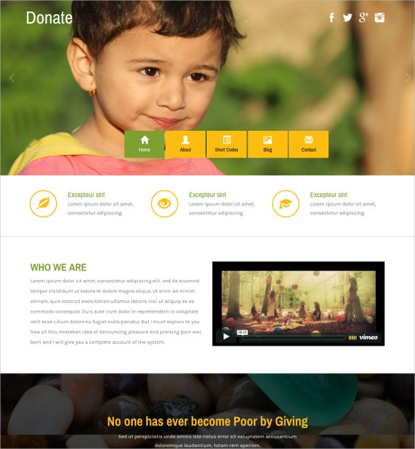 free charity html website theme