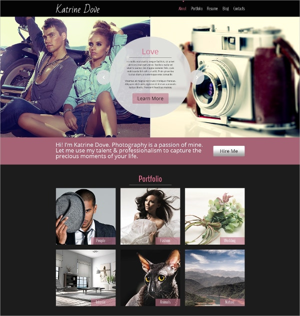 free photography html5 theme
