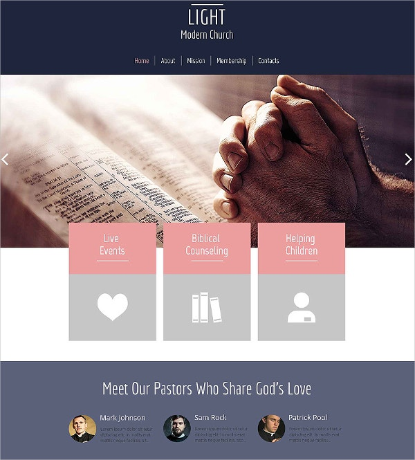 free mission charity html5 theme