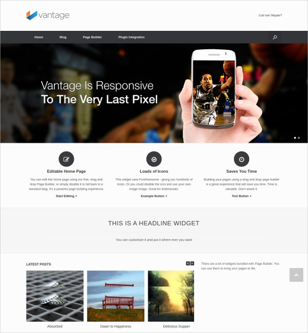 free multipurpose wordpress website theme