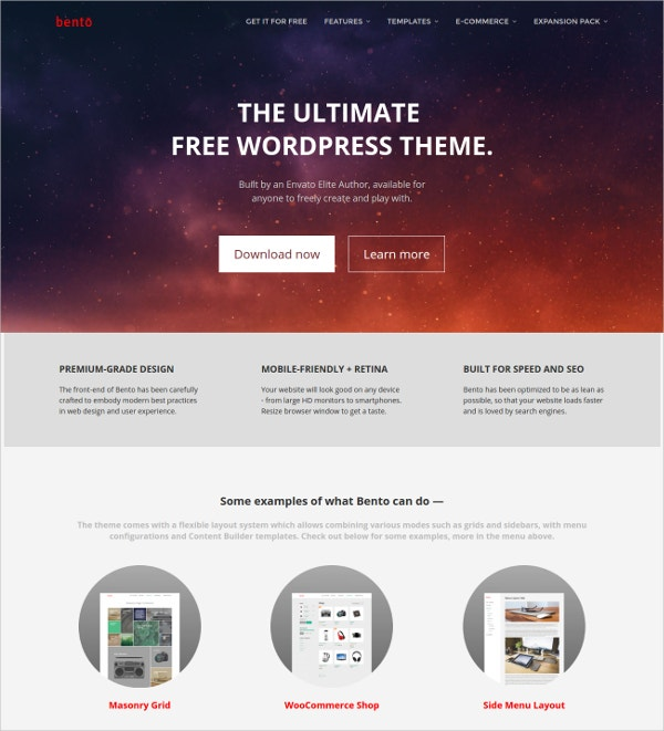 free utimlate wordpress website theme