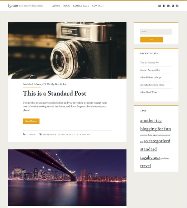 free responsive personal business wordpress website theme