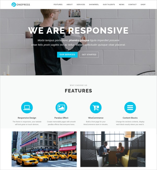 free onepage digital agency wp website theme