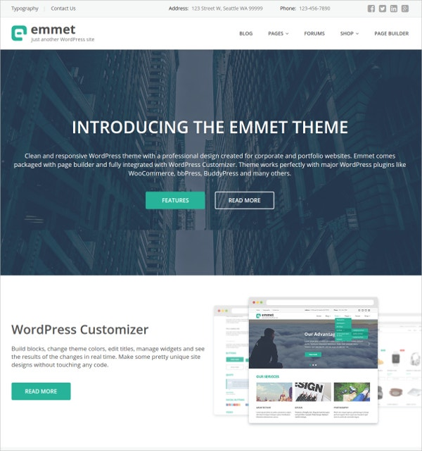 responsive free multipurpose wp website theme