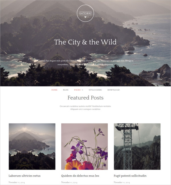 elegant free wp website theme