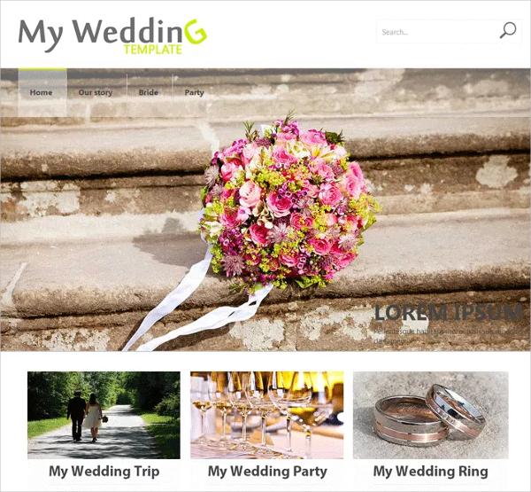 free wedding party website theme