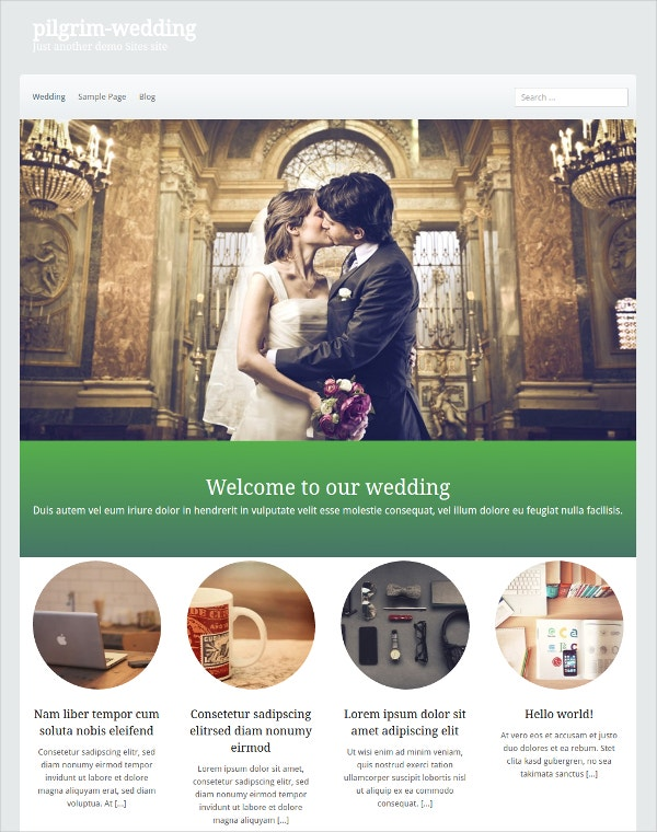 With A Simple Design Along Fancy Web Style These Templates Are Pretty Useful For Designing Creative Website Organising Weddings