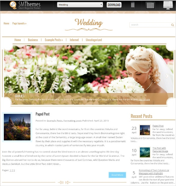 18 free wedding website themes templates free