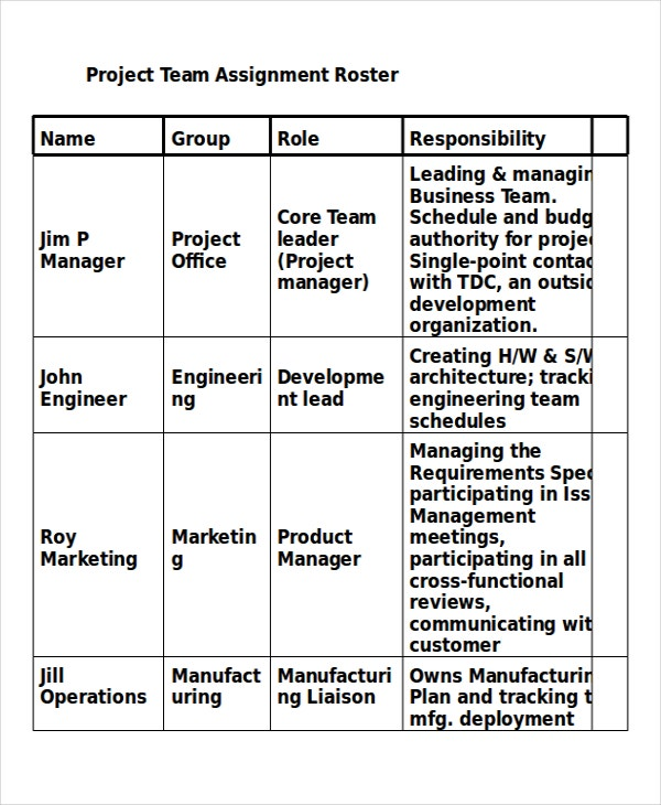 Project Assignment Template - 4+ Free Word, PDF Documents Download ...