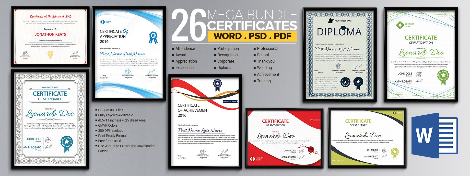 Word Certificate Template 49 Free Download Samples Examples