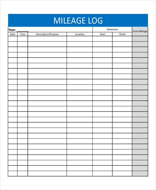 Travel Mileage Log Template 28 Images 7 Best Images Of Free
