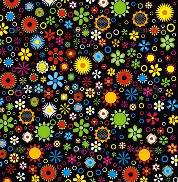 Color Flower Pattern