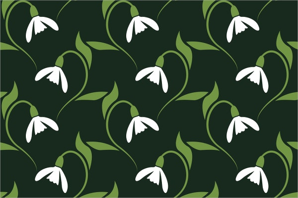 snowdrop flower pattern