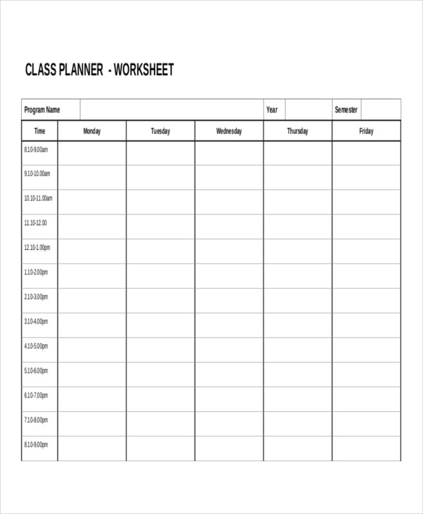 14+ Work Sheet Templates - Free Sample, Example, Format | Free ...