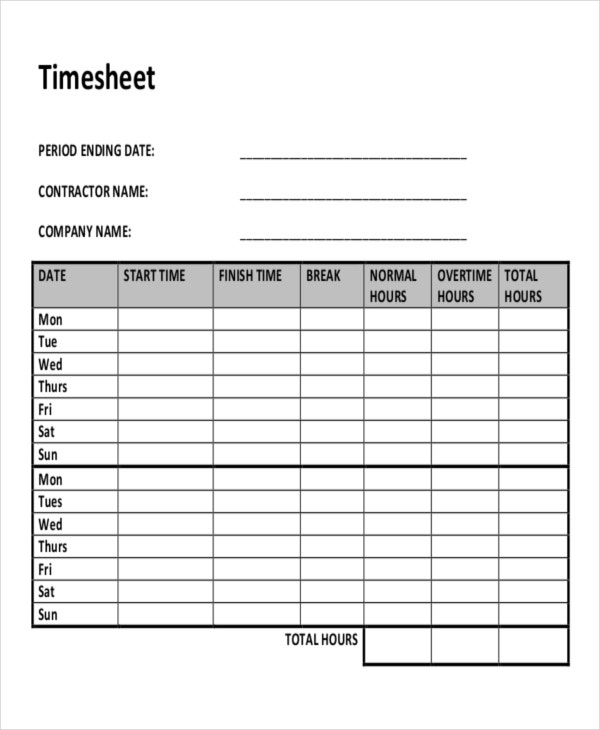 Construction Timesheet Template Excel  TvsputnikTk