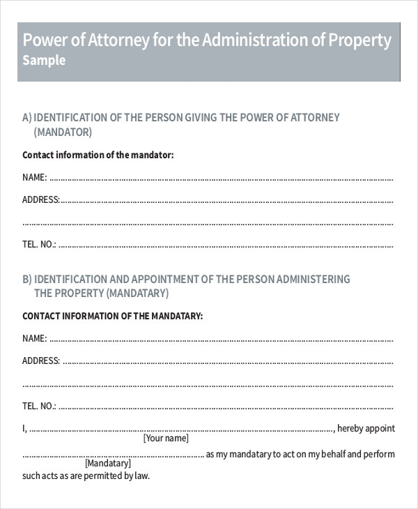 Power Of Attorney Letter Format. 15 Power Of Attorney Templates Free Sample  ...