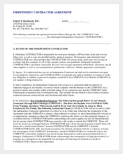 Non-Compete Agreement of Contractor