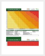 Adult Body Mass Index Chart