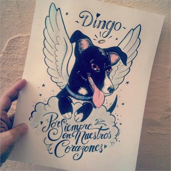 Dog Memorial Card