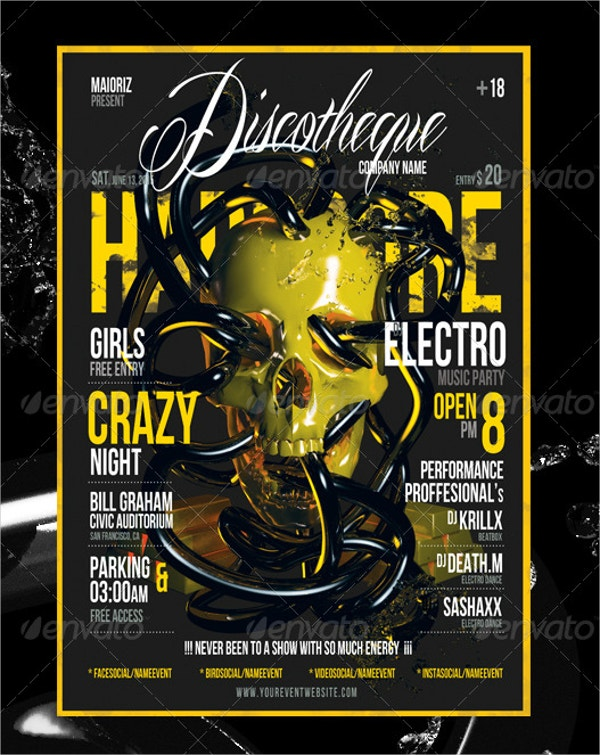 Electro Rave Party Flyer