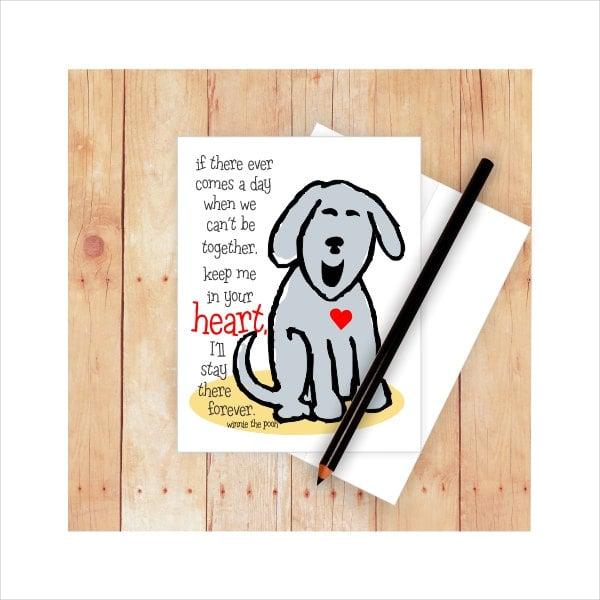 Pet Memorial Card
